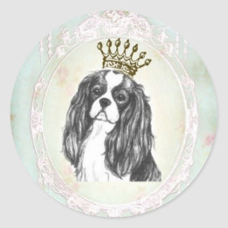 Pretty Cavalier King Charles Spaniel Sticker