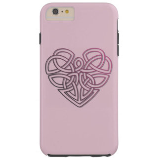 Pretty Celtic Heart Knot Tough iPhone 6 Plus Case