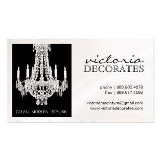 Pretty Chandelier Calling Cards Business Card Templates