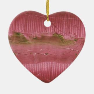 Pretty Chaveiro, modern, different Ceramic Heart Ornament