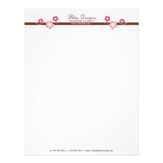 Pretty Cherry Blossom Flower Letterhead