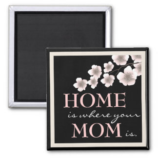 Pretty Cherry Blossom Mom & Home Magnet