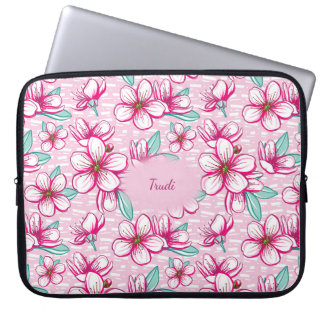 Pretty Cherry Blossom Personalized Laptop Laptop Sleeve