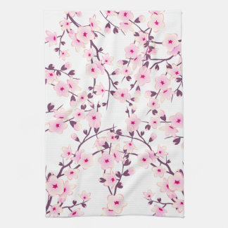 Pretty Cherry Blossoms Kitchen Towel
