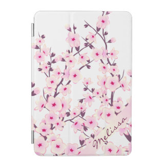 Pretty Cherry Blossoms Monogram iPad Mini Cover