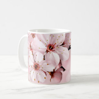 Pretty Cherry Blossoms Monogrammed Coffee Mug