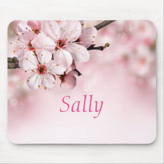 Pretty Cherry Blossoms Personalized Mouse Pad