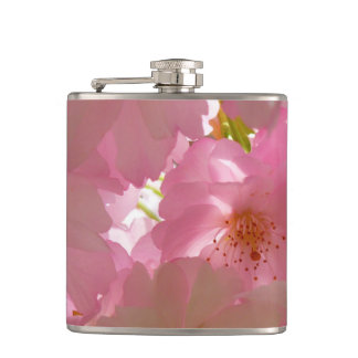 Pretty Cherry Flowers Flask