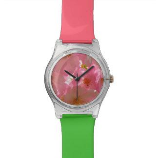 Pretty Cherry Flowers Wristwatch