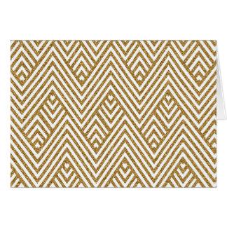 Pretty chevron zigzag diamond shapes pattern card