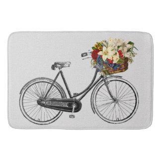 Pretty chic  bicycle flower bike   Bathroom mat