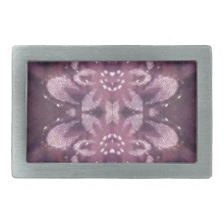 Pretty Chic Burgundy Lavender Artistic Floral Belt Buckles