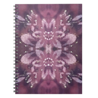 Pretty Chic Burgundy Lavender Artistic Floral Notebook