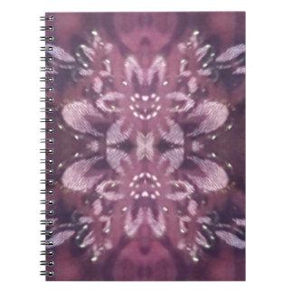 Pretty Chic Burgundy Lavender Artistic Floral Spiral Notebook