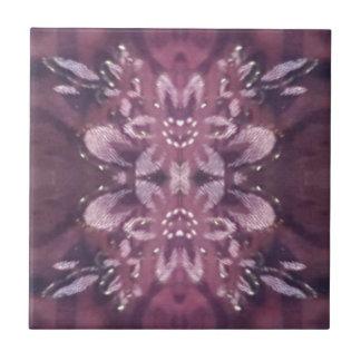 Pretty Chic Burgundy Lavender Artistic Floral Tile