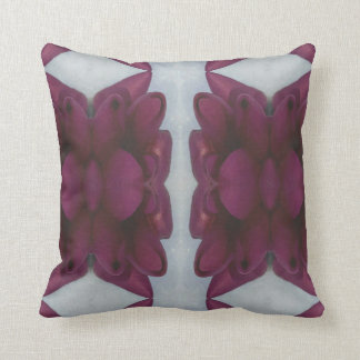 Pretty Chic Burgundy Magenta Abstract Floral Throw Pillow