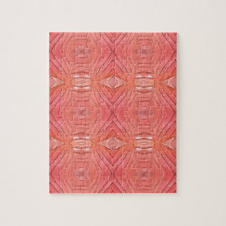 Pretty Chic Soft Peach Pastel Pattern Jigsaw Puzzle