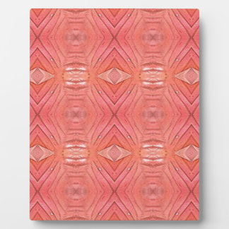 Pretty Chic Soft Peach Pastel Pattern Plaque