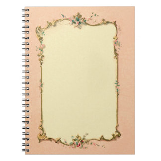 Pretty Chic Vintage French Blank Page Border Notebooks
