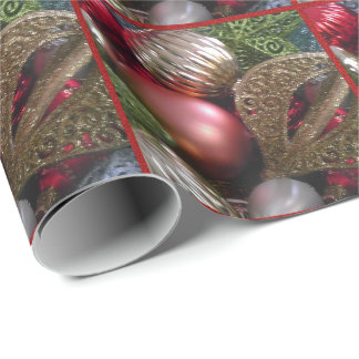 Pretty Christmas Ornament Wrapping Paper