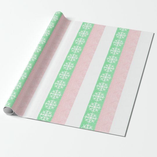 Pretty Christmas Snowflake Gift Wrap