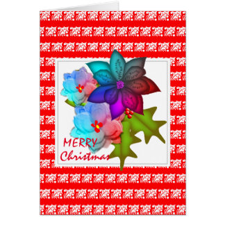 Pretty Christmas Succulent Floral Card