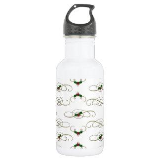 Pretty Christmas Swirls & Holly 532 Ml Water Bottle