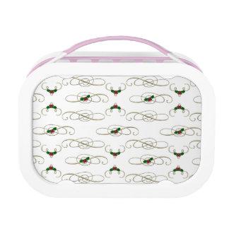 Pretty Christmas Swirls & Holly Lunch Box