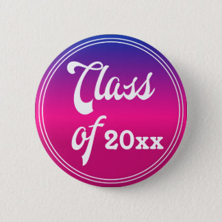 Pretty Class Of Graduation Button
