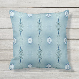 Pretty Classic Blues In Modern Pattern Throw Pillow