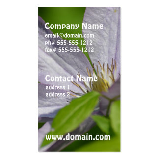 Pretty Clematis Business Card Templates