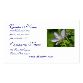 Pretty Clematis Business Cards