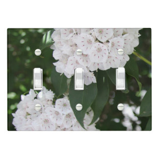 Pretty Close-up Mountain Laurel Light Switch Cover