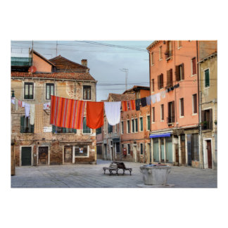Pretty Clotheslines At Campo Ruga Poster
