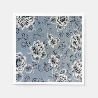 Pretty Colonial Blue Flower | Paper Napkins