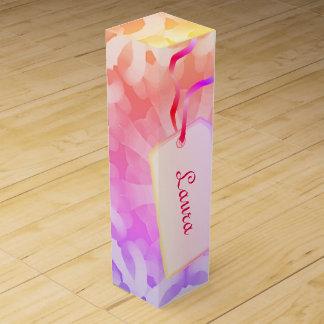 Pretty colorful abstract design wine box