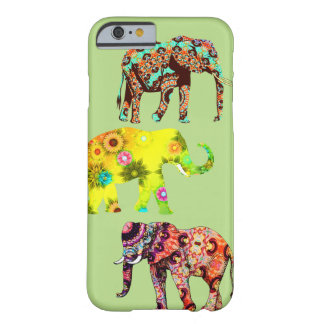 Pretty Colorful Artsy Elephants Cell Phone Case