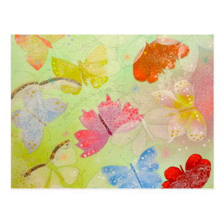Pretty Colorful Butterflies. Postcard