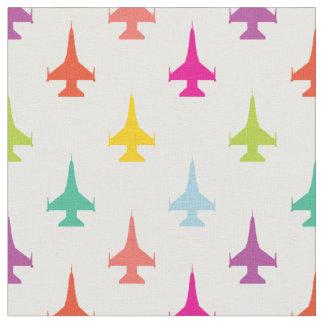 Pretty Colorful F-16 Viper Fighter Jet Pattern Fabric