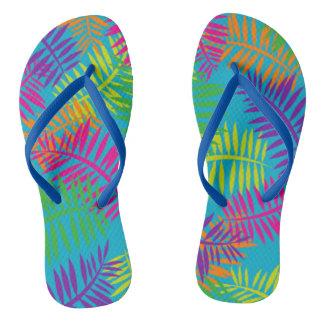 Pretty Colorful Fern Textile Sandals