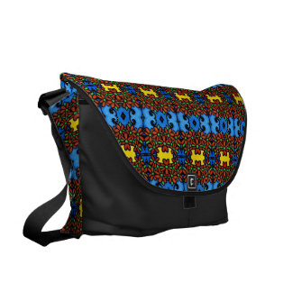Pretty Colorful Floral Pattern Courier Bags