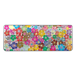 Pretty Colorful Flowers Wireless Keyboard