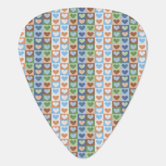 Pretty Colorful Hearts for Her Guitar Pick