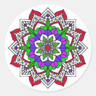 Pretty Colorful Mystical Mandala Zen Stickers