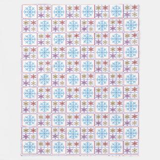 Pretty Colorful Snowflakes Large Fleece Blanket