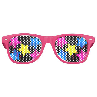 pretty coloured stars shades party shades
