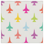 Pretty Colourful F-16 Viper Fighter Jet Pattern Fabric