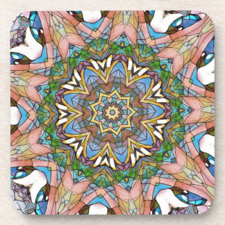 Pretty Cool Pastel Artistic Stained Glass Coaster