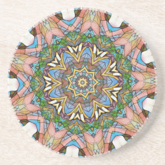 Pretty Cool Pastel Artistic Stained Glass Drink Coasters