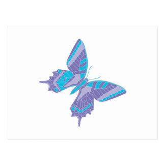 pretty cool pastel butterfly postcard
